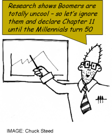 Boomers totally uncool