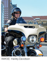 Harley police motorcycle